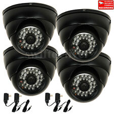 4x Dome Security Camera Built-in SONY CCD Wide Angle CCTV Day Night Outdoor WH0