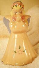 Kay Finch Angel Figurine Praying Angel Handpainted Usa 1950's Whimsical Colorful