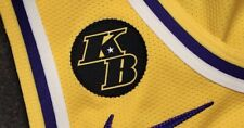 "Kobe Bryant 2"" KB Round Lakers Basketball Wing Jersey Embroidered Patch Iron On"