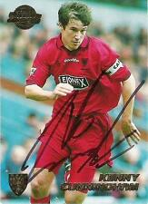 A Merlin Premier Gold 1999 card signed by Kenny Cunningham of Wimbledon.