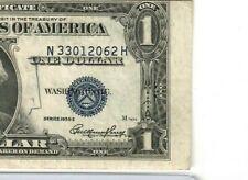 "$1 ""SHIFT/MISCUT ERROR"" (SILVER CERTIFICATE) 1935-E ""SHIFT/MISCUT ERROR"""