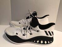 ADIDAS CLU 600001 Basketball Black & White Athletic Shoes Size 19US