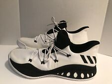 on sale 1fb56 d4521 ADIDAS CLU 600001 Basketball Black  White Athletic Shoes Size 19US