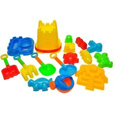 Beach Toys For Kids with Reusable Mesh Bag Castle Bucket Sand Mold, 16-Piece