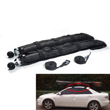 2Pcs Removable Air Cushion Car Roof Top Rack Cross Bar Cargo Luggage Rail Mount