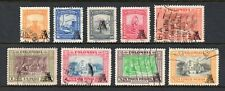 Colombia # C208-C216, Used, 1951, 9 Different Air Mail Stamps, Complete Values