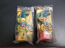 1994 Godzilla King of Monsters Flix Candy Dispensers, Red and Yellow, New!