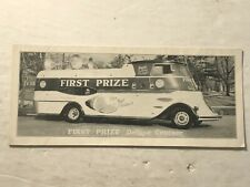 1940's Albany Packing Co .Ny First Prize Meats Deluxe Cruiser Photo Brochure