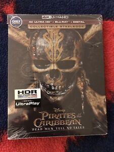 Pirates of Caribbean Dead Men Tell No Tales 4K UHD / Blu-ray / DC OOP Steelbook