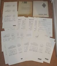 (38B) RARE DOSSIER PRESSE RENAULT MODÈLES 1965 (GORDINI)