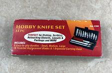 13pc Hobby Razor Knife Set With Case