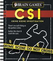 Brain Games - Crime Scene Investigation [CSI] Puzzles , Spiral-