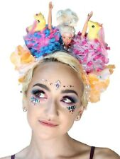 Pony Party Dolly Mixture Pom Pom Festival Flower Crown Headband Headdress
