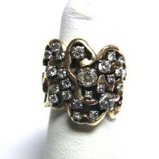14K YG 24 Diamond Cluster Ring 1.20 Carat TW 10.5g SZ 4.5 AS-IS (GO1037093)