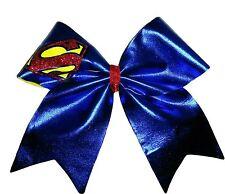 Superman Supergirl Mystique Spandex Cheer Hair Bow