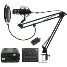 Professional Condenser Studio Microphones Audio Vocal Recording For Karaokes New