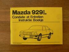 MAZDA 929L CONDUITE ET ENTRETIEN INSTRUKTIE BOEKJE 1979 CAR AUTO