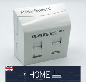 2021 BT Openreach Telephone Master Socket NTE5c MK2 & VDSL/ADSL Faceplate MK4