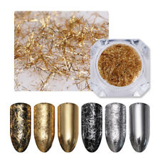 Gold Silver Nail Strip Metal Wire Line Sticker For UV Gel 3D Nail Art Decoration