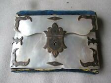 FABULOUS ANTIQUE MOTHER OF PEARL FOLDING SEWING KIT
