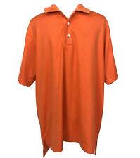 Adidas Climacool Sz L Mens Polo Shirt Coral Orange Short Sleeve
