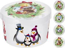 Large Christmas Cake Storage Box Christmas Biscuits Sweets Santa Cookies Tin Tub