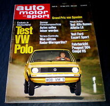 AMS 10/75 Test Alfa Romeo Alfetta 1.6,Test Ford Escort Sport,Test VW Polo 900ccm
