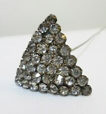 Antique Hatpin Pave Rhinestone Triangle