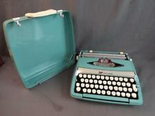 Vintage Smith-Corona Corsair Deluxe Portable Typewriter with Hard Case Turquoise