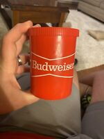 RARE Vintage Red Bow Tie Budweiser Gott Gripper Beer Holder Koozie Free Shipping