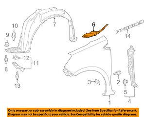 TOYOTA OEM 12-17 Prius C Fender-Seal To Cowl Right 5386652100