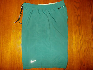 NIKE PRO COMBAT GREEN RUNNING SHORTS WITH LINER MENS LARGE EXCELLENT CONDITION