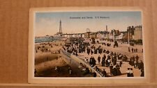 Postcard posted 1915 Lancashire, Blackpool, Promenade and sands