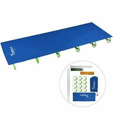 Ultralight Compact Folding Camping Tent Cot Bed Portable with Carry Bag Us Blue
