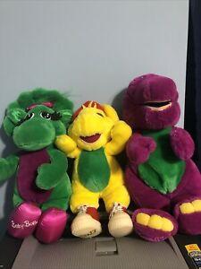 Barney And Friends Plush Lot Purple Dinosaur Baby Bop BJ