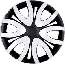 4x PREMIUM DESIGN Radkappen Radzierblenden Blenden Mika 15 ZOLL #37 Weiß Schwarz