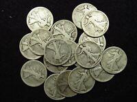 1917-S OBV Walking Liberty Silver Half Dollar G/VG