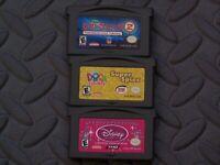Lot Nintendo Game Boy Advance GBA Games Lilo & Stitch 2, Dora Super Spies + 1