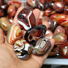 Natural Madagascar Banded Agate Stones Specimen Tumbled Raw Gemstone Collection
