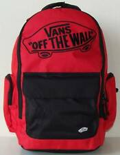 Vans Off The Wall Underhill Backpack Bookback Laptop Sleeve Red Black New NWT