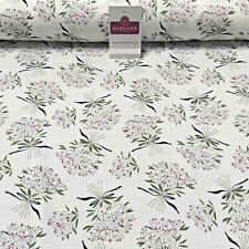 """Vintage Floral Flower Bouquet printed Viscose Dress Fabric 58"""" wide MA885"""