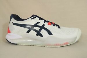 ASICS Womens Gel-Resolution 8 White/Peacoat Tennis Athletic Shoes Womens 7.5