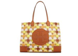 NWT TORY BURCH ELLA Floral Printed Nylon Logo Tote Shopper Bag In Multicolor
