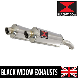 YAMAHA FJR1300 2001-2005 Exhaust Silencers 300mm Oval Stainless 300SS