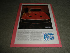 """1967 FORD MUSTANG  AD-""""Bred first...to be first""""-Two Bonus SHELBY G.T. ADS"""