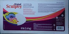 SCULPEY ORIGINAL - Oven Bake Polymer Clay - Huge 3.6kg (8lbs) - WHITE