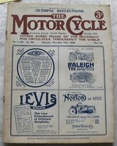 Motor Cycle 13 Nov 1924 Motorcycle Magazine Sidecar Designs Show Comments