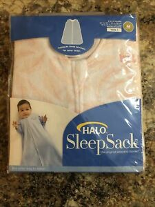Halo SleepSack M 6-12 Month Micro Fleece NIP Pink Pine Leaves Safer Sleep NEW