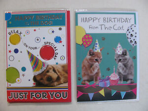 Birthdays Cards Happy To From Pets Novelty Dogs Cats Lovers Friends Events