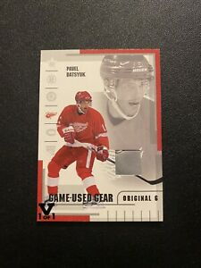 2003-04 Parkhurst Original 6 Pavel Datsyuk Game Used Gear Skate ITG Vault 1/1 🔥